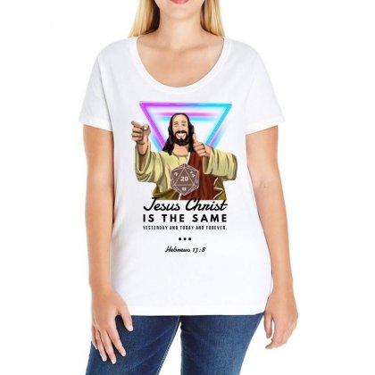 Forever Jesus Ladies Curvy T-shirt Designed By Meganphoebe