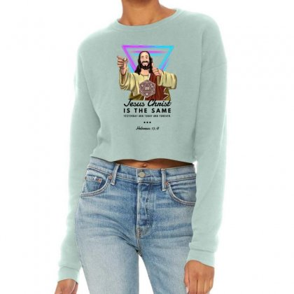 Forever Jesus Cropped Sweater Designed By Meganphoebe