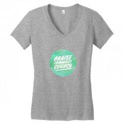 praise community church Women's V-Neck T-Shirt | Artistshot