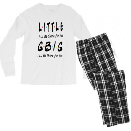 Litle Gbig Matching Sorority   I'll Be There For You Men's Long Sleeve Pajama Set Designed By Meganphoebe