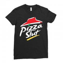 pizza slut Ladies Fitted T-Shirt   Artistshot