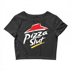 pizza slut Crop Top   Artistshot