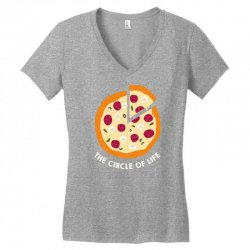 pizza the circle of life Women's V-Neck T-Shirt | Artistshot