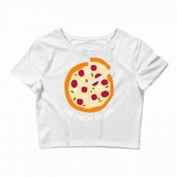 pizza the circle of life Crop Top | Artistshot