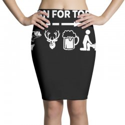 plan for today fishing hunting beer drinking Pencil Skirts | Artistshot