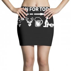 plan for today fishing hunting beer drinking Mini Skirts | Artistshot