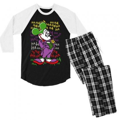 Funny Mr Mouse Ha Ha Ha Men's 3/4 Sleeve Pajama Set Designed By Meganphoebe