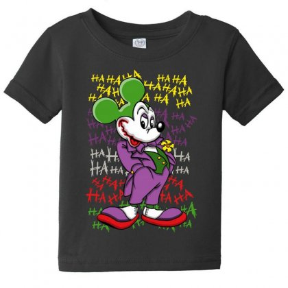 Funny Mr Mouse Ha Ha Ha Baby Tee Designed By Meganphoebe