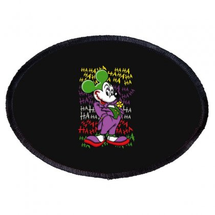 Funny Mr Mouse Ha Ha Ha Oval Patch Designed By Meganphoebe