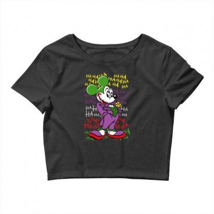 Funny Mr Mouse Ha Ha Ha Crop Top Designed By Meganphoebe