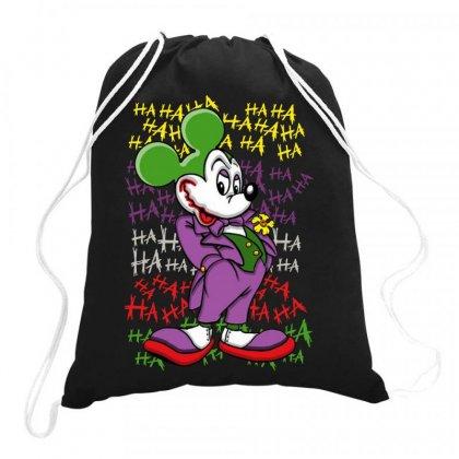 Funny Mr Mouse Ha Ha Ha Drawstring Bags Designed By Meganphoebe