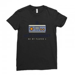 player 2 connect Ladies Fitted T-Shirt   Artistshot