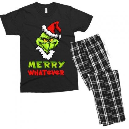 Funny Christmas Grinchy Men's T-shirt Pajama Set Designed By Meganphoebe