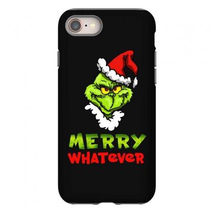 Funny Christmas Grinchy Iphone 8 Case Designed By Meganphoebe