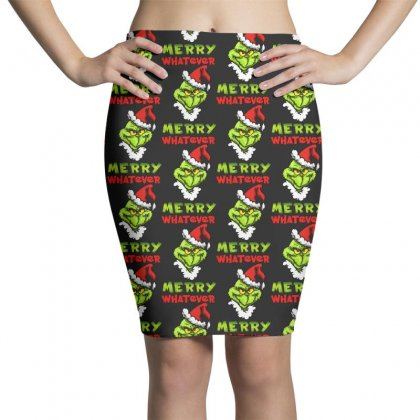 Funny Christmas Grinchy Pencil Skirts Designed By Meganphoebe