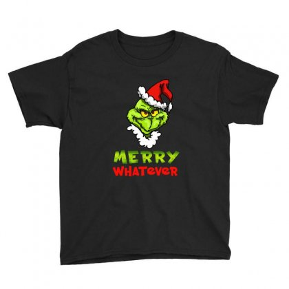 Funny Christmas Grinchy Youth Tee Designed By Meganphoebe