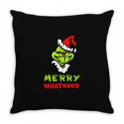 funny christmas grinchy Throw Pillow | Artistshot