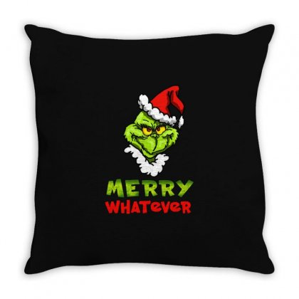 Funny Christmas Grinchy Throw Pillow Designed By Meganphoebe