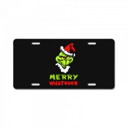 funny christmas grinchy License Plate | Artistshot