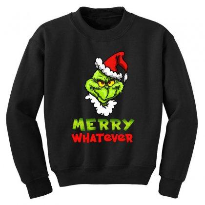Funny Christmas Grinchy Youth Sweatshirt Designed By Meganphoebe