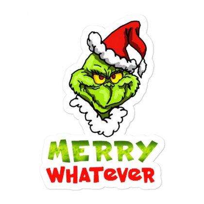 Funny Christmas Grinchy Sticker Designed By Meganphoebe