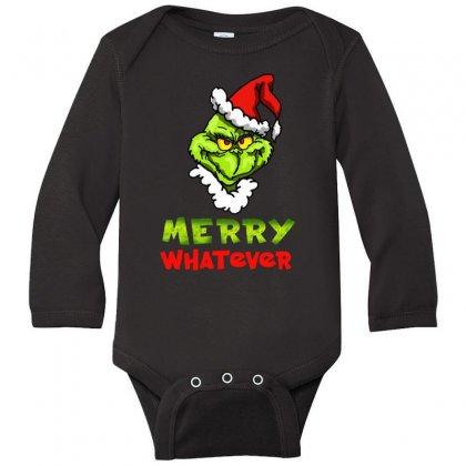 Funny Christmas Grinchy Long Sleeve Baby Bodysuit Designed By Meganphoebe
