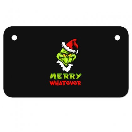 Funny Christmas Grinchy Motorcycle License Plate Designed By Meganphoebe