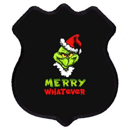 Funny Christmas Grinchy Shield Patch Designed By Meganphoebe