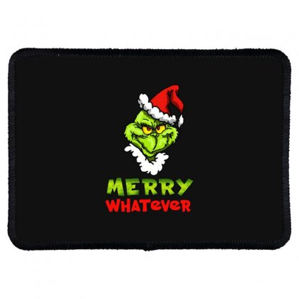 Funny Christmas Grinchy Rectangle Patch Designed By Meganphoebe