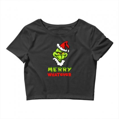 Funny Christmas Grinchy Crop Top Designed By Meganphoebe