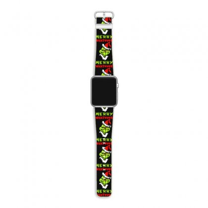 Funny Christmas Grinchy Apple Watch Band Designed By Meganphoebe