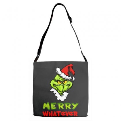 Funny Christmas Grinchy Adjustable Strap Totes Designed By Meganphoebe