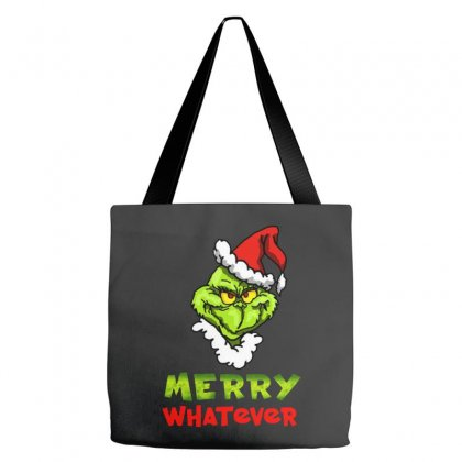 Funny Christmas Grinchy Tote Bags Designed By Meganphoebe