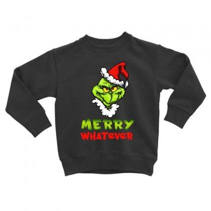 Funny Christmas Grinchy Toddler Sweatshirt Designed By Meganphoebe