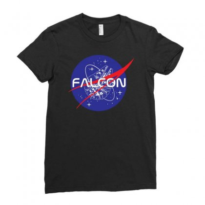 Falcon Space Agency Ladies Fitted T-shirt Designed By Meganphoebe