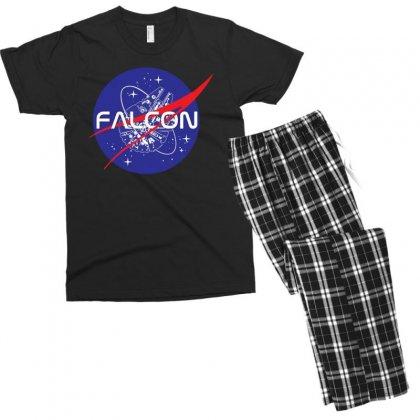 Falcon Space Agency Men's T-shirt Pajama Set Designed By Meganphoebe