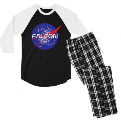 Falcon Space Agency Men's 3/4 Sleeve Pajama Set Designed By Meganphoebe