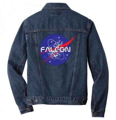 Falcon Space Agency Men Denim Jacket Designed By Meganphoebe