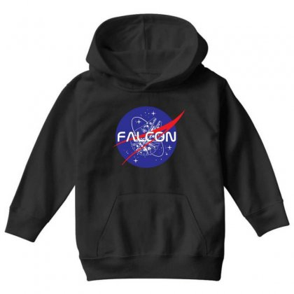 Falcon Space Agency Youth Hoodie Designed By Meganphoebe