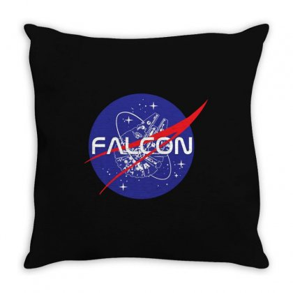 Falcon Space Agency Throw Pillow Designed By Meganphoebe