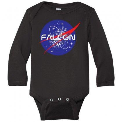 Falcon Space Agency Long Sleeve Baby Bodysuit Designed By Meganphoebe