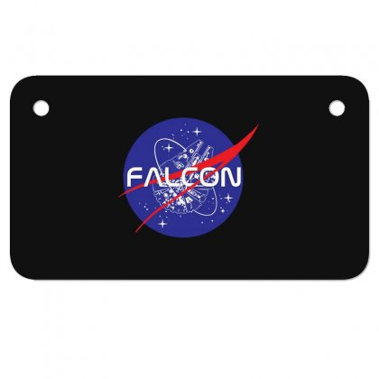 Falcon Space Agency Motorcycle License Plate Designed By Meganphoebe