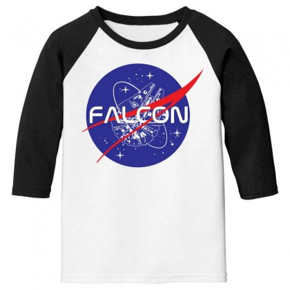 Falcon Space Agency Youth 3/4 Sleeve Designed By Meganphoebe