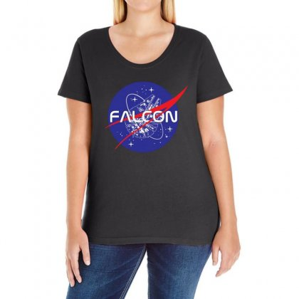 Falcon Space Agency Ladies Curvy T-shirt Designed By Meganphoebe