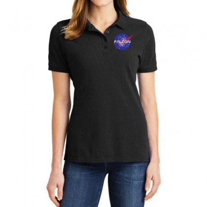 Falcon Space Agency Ladies Polo Shirt Designed By Meganphoebe