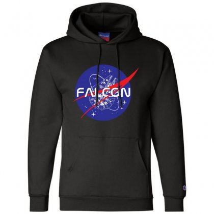 Falcon Space Agency Champion Hoodie Designed By Meganphoebe