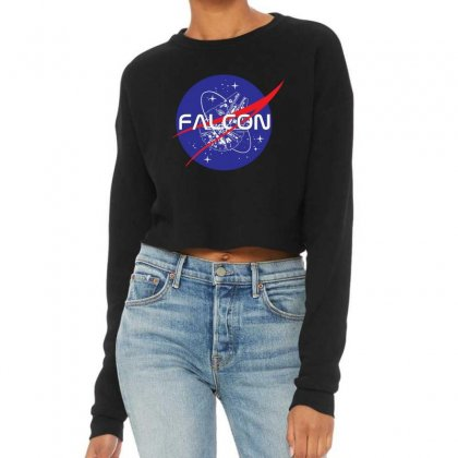 Falcon Space Agency Cropped Sweater Designed By Meganphoebe