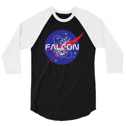 Falcon Space Agency 3/4 Sleeve Shirt Designed By Meganphoebe