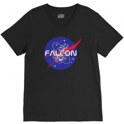 Falcon Space Agency V-neck Tee Designed By Meganphoebe