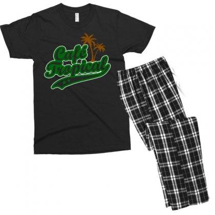 Cafe Tropical Men's T-shirt Pajama Set Designed By Meganphoebe
